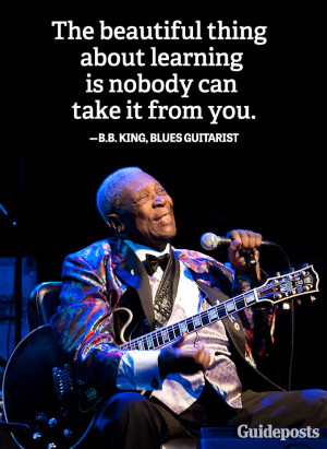 Wisdom quote B.B. King blues learning | Guideposts