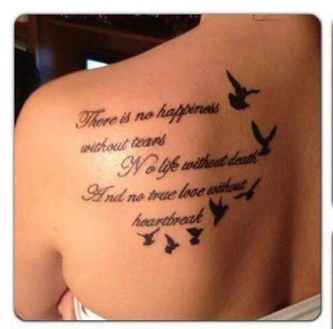 Meaningful Tattoo Quotes on Back – Bird Tattoo for Girls is creative ...