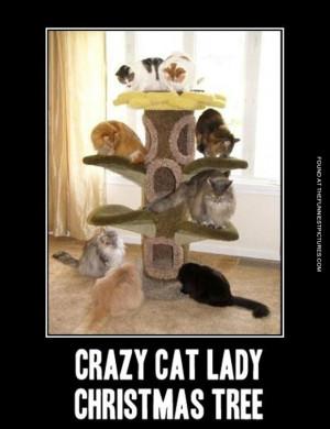 Crazy cat lady christmas tree