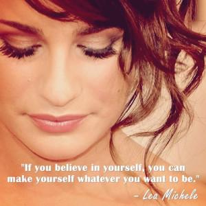 Glee Quotes Tumblr Lea michele quotes