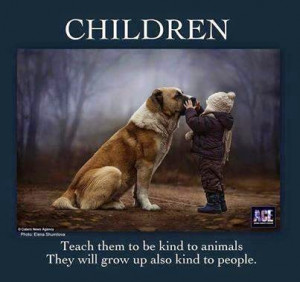 teaching kids to be kind to animals is as imperative as teaching them ...