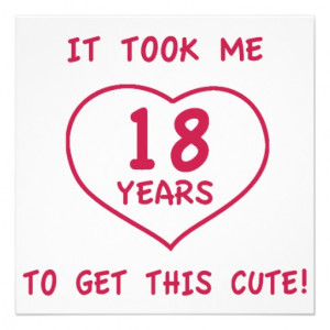 Funny 18th Birthday Gifts (Heart) Personalized Invitations from Zazzle ...