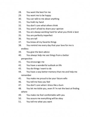 example for 52 reasons i love 52 reasons why i love you examples
