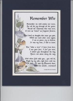 death memorial poems