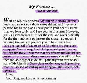 His Princess.
