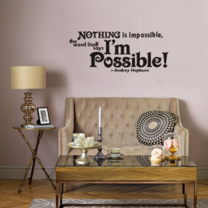 Wall-Stickers-Picture-Black-Quotes-Sayings-Im-possible-26-11-In ...