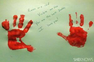 Valentine's Day handprint love poem