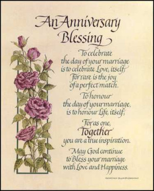 Christian Wedding Anniversary Blessings, 375x465 in 24.5KB