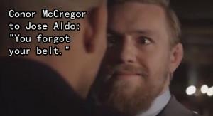 Conor McGregor Stare Down Quote