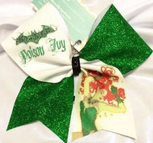 Home All Bows Cheer Quotes Poison Ivy Batman Full Glitter Cheer Bow