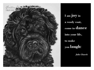 NEW Dog quote card: Portie / Julie Church wisdom