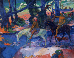 The Flight, 1901. Oil on canvas, 76 x 95 cm. Puschkin Museum, Moscow