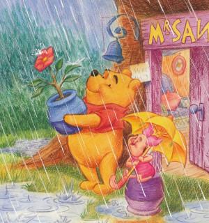 Winnie the pooh -- Rain