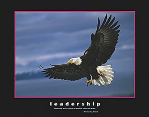 Bald Eagle Leadership Poster 20x16