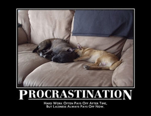 ll think of something funny next time » procrastination