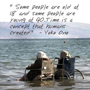 Quote on Aging by Yoko Ono: