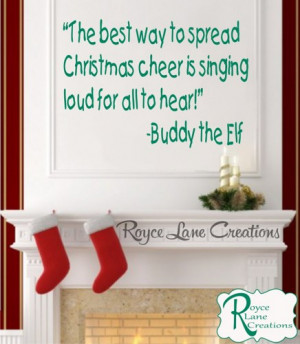 Christmas Decal Funny Elf Wall Quotes Christmas Vinyl Wall Decal