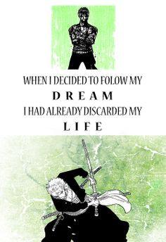 ... anime quotes pieces one piece dreams anime manga quotes zoro senpai
