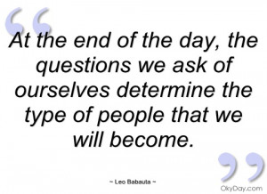 at the end of the day leo babauta