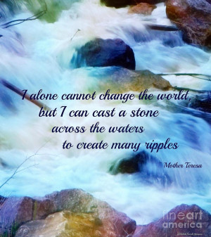 Quotes Ripple Effect ~ The Ripple Effect by Michelle Frizzell-Thompson ...