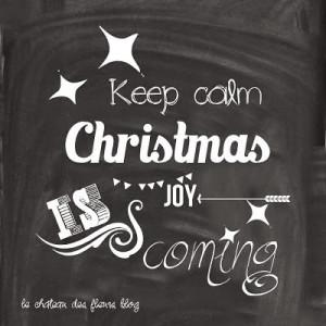 Keep Calm Christmas Joy is Coming