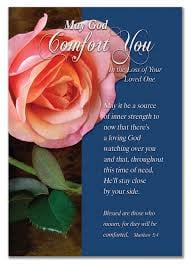 May God Comfort You… ~ Sympathy Quote