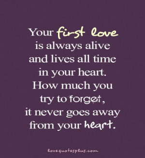 Home » Picture Quotes » Love » Your first love is always alive and ...