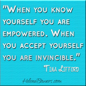 Accept yourself quote by Tina Lifford