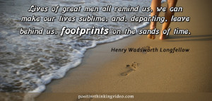 Footprints on the sands of time :)
