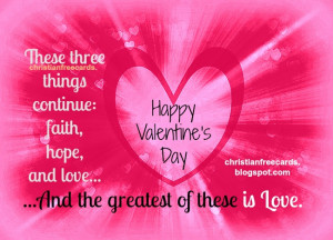 Valentine's Day. Free image, card, free christian quote for valentine ...