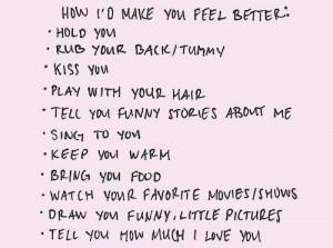 Le Love: how i'd make you feel better