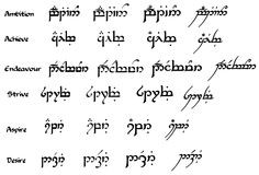 ALL Elvish tattoo requests here Lord of the Rings Fanatics Forum Page ...