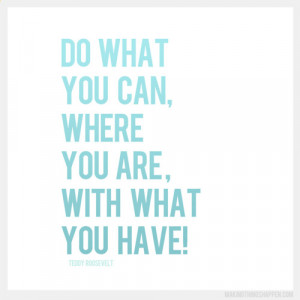 ... you gut and do what you can, where you are with what you have!Gina
