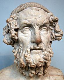Homer - rzymska kopia hellenistycznej rzeźby z II wieku p.n.e.