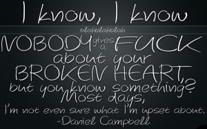 heart quotes and sayings for girls Daniel Camppbel Broken Heart Quote ...