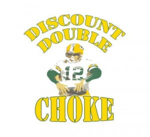 Double Choke Shirt Funny Aaron Rodgers Green Bay Packers Jersey