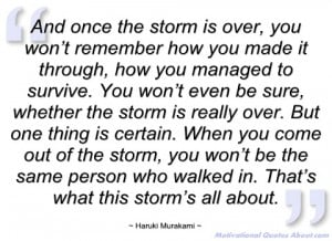 and once the storm is over haruki murakami