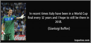 In recent times Italy have been in a World Cup final every 12 years ...