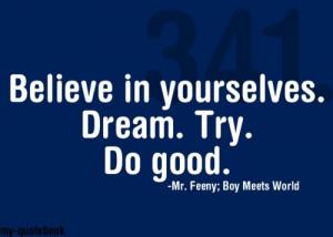 ok, Mr. Feeny