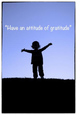 Veckans Citat #36 - An attitude of gratitude