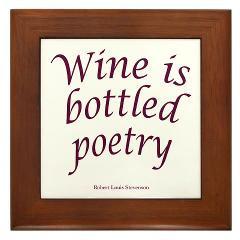 view larger wine bottled poetry framed tile wine is bottled poetry ...