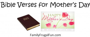 10 Bible Verses for Mother's Day