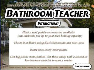 For Bathroom Teacher, I took some pics of the bathroom in the park ...
