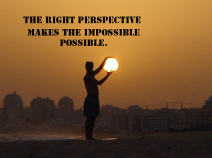 The right perspective makes the impossible possible