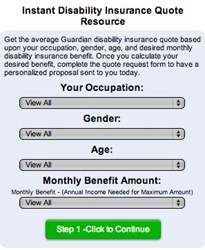 ... Internet's First Instant Disability Insurance Quote Resource Online
