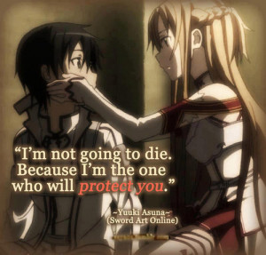Sword Art Online Kirito Quotes