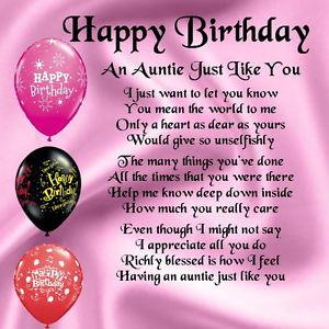... Personalised Coaster - Auntie Poem - Happy Birthday + FREE GIFT BOX