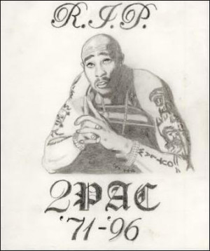 All Graphics » popular drawing of tupac