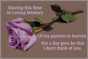 ... loving memory of my parents in heaven not a day goes by that i don t