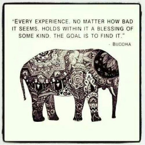 Love the quote and the elephant!!